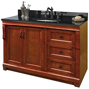 pegasus naca4821d naples 48 inch vanity warm cinnamon. Black Bedroom Furniture Sets. Home Design Ideas