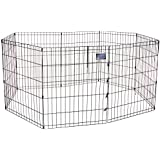 Midwest E-Coat Exercise Pen, 24-Inch by 30-Inch (Black)
