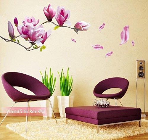 wandsticker4u-magnolie-blumen-magnolia-blutenpracht-wandaufkleber-wand-sticker-wohnzimmer-deco-lila-