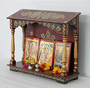 Buy Handpainted Wooden Home Temple Wall Hanging Online At Low Prices In India