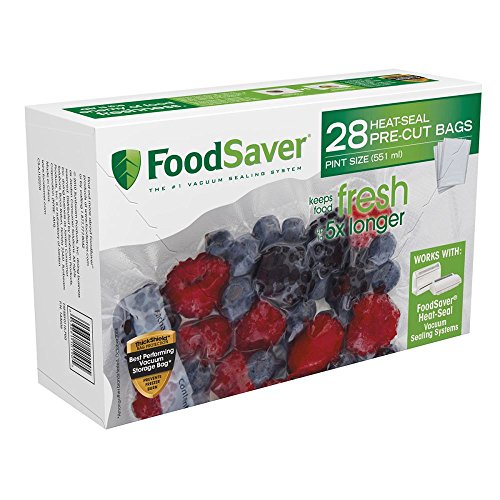 FoodSaver FSFSBF0116-P00 Pint Bags (Foodsaver Vacuum Bags Pint Size compare prices)