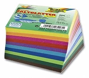 """Folia 8957 - Faltblätter """"Midi"""" 70 g/m², 7,5 x 7,5 cm, 500 Blatt, sortiert in 10 Farben"""