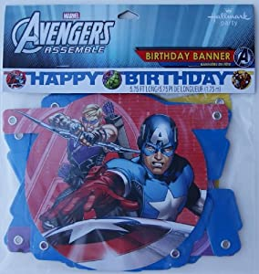 Marvel Avengers Assemble Happy Birthday Banner - 5.75' from Hallmark Party