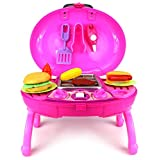 Barbecue Bbq Grill Childrens Kids Toy Kitchen & Food Play Set With Lights, Sounds (Colors May Vary) Play Kreative Tm