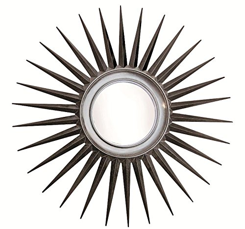 Chisel Arts Mahogany Wood Sunburst Decorative Wall Mirror Frame