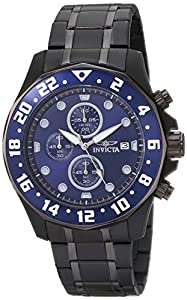 "Invicta Men's 15944 ""Specialty"" Black Ion-Plated Stainless Steel Bracelet Watch"