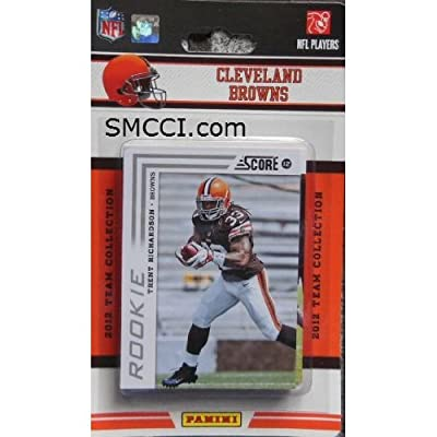2012 Score Cleveland Browns Factory Sealed 12 Card Team Set Including Colt Mccoy, Brandon Weeden, Trent Richardson, Ben Watson, Greg Little, Jabaal Sheard, Josh Cribbs, Sheldon Brown, D'Qwell Jackson, Mohamed Massaquoi, Montario Hardesty and Travis Benjam
