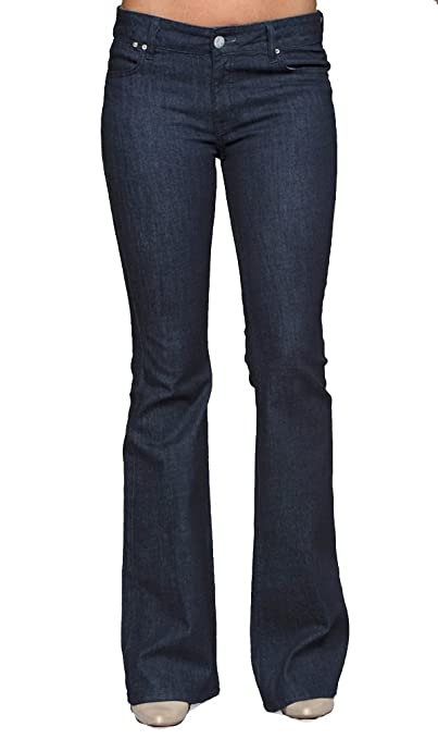 TallWater Jeans Women's Tall Kat Flare Jean Dark Indigo
