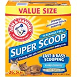Arm & Hammer Super Scoop Clumping Litter, 26.3-Pound, Fresh Scent