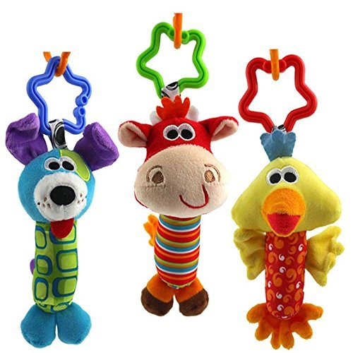 New 2016 Baby Toys 3pcs/lot Rattle Hand Bell Multifunctional Plush Baby Toy Stroller Mobile Gifts (Winnie The Pooh Pack N Play compare prices)