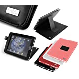 DURAGADGET Executive Multi Angle Black Leather iPad Case & Stand With Bonus Screen Protector For Apple iPad 16 gig 32 gig 64 gig WIFI & 3g models (16GB 32 GB 64GB)by DURAGADGET