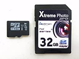 Zectron 32GB UHS-1 Micro Class 10 Memory Card for Canon PowerShot SX110 IS