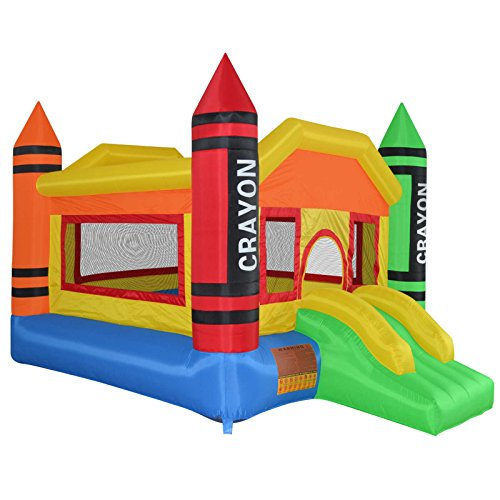 Cloud-9-Mini-Crayon-Bounce-House-Inflatable-Bouncing-Jumper-without-Blower