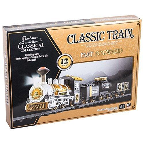 Super Train set, 12pc Super Long Set W Train Station (Vintage Train Engine compare prices)