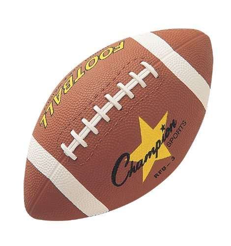 Champion Sports Junior Size Rubber Football - 1