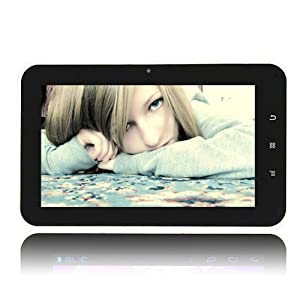 AGPtek® 7-Inch Android 4.0 Touchscreen Tablet PC Black (512 MB DDR3, 8GB NAND FLASH, HDMI 1080P 2160P, Support Skype Video Calling & Netflix Movies)