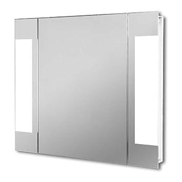 Light Mirrors Halo Range Enlighten Bathroom Mirror, Touchless Power Infra Red Sensor Demist & Shaver