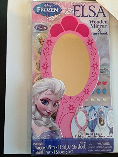 Disney Frozen Elsa Wooden Mirror Stickers Jewles Decorations & Fold Out Storybook - 1