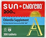 Sun Chlorella - Chlorella Superfood Nutritional Supplement - 200 Mg 300 Tablets