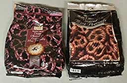 Trader Joes Chocolate Covered Pretzels Variety Pack (2 Bags) Milk Chocolate and Dark Chocolate Plus Bonus Set of Chip Clips
