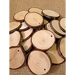"Wood Slices medium - Predrilled 20 - 2"" to 2.5"" in diameter"