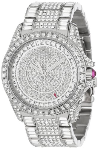 Juicy Couture Women's 1901039 Stella Swarovski Crystal Set Bracelet Watch