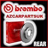 JAGUAR XJ SOVEREIGN V12 85-92 197kW REAR BREMBO BRAKE DISCS 08.2557.10