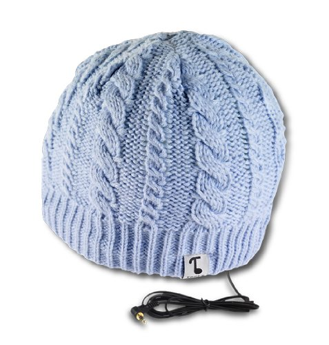 Tooks Ivy Headphone Hat With Built-In Removable Headphones - Color: Baby Blue