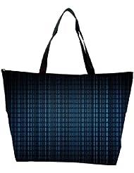 Snoogg Blue Pattern Design Designer Waterproof Bag Made Of High Strength Nylon - B01I1KKOD8