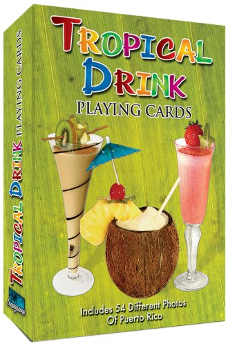 Tropical Drink Recipes Playing Cards 54 Cards (Tropical Recipes compare prices)