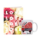Love Card with Love Truck Mug Gift for Valentine GIFTS110420 Romantic Valentine Gift,Valentine Gift for Him,Valentine Gift for Her,Valentine Gift for Boyfriend,Valentine Gift for Girlfriend,Valentine Gift for Husband,Valentine Gift for Wife