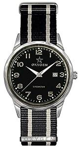 Oxygen Mamba 40 Unisex Quartz Watch with Black Dial Analogue Display and Black Nylon Strap EX-SV-MAM-40-NN-BLIVBL