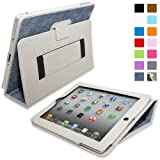 """Snugg iPad 2 H�lle (Blau Denim) - Smart Cover mit Automatische Schlaf-Spur, Aufsteller, elastischer Handschlaufe, Stylus-Halterung und Premium Nubuck Innenfutter f�r Apple iPad 2von """"Snugg"""""""