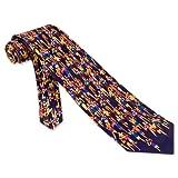 Marathon Tie Navy Blue Silk Necktie - Mens Sprorts Neck Tie