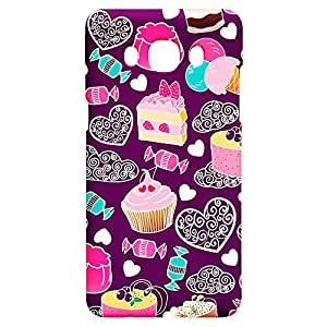 Fancy Interio Printed Back Case Cover For Samsung Galaxy J5 - Design Pattern Of Cup Cake.