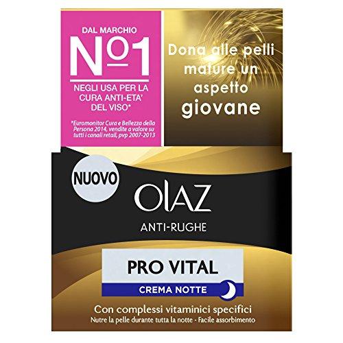 Olaz Antirughe Provital Crema Notte Idratante Anti-età, 50 ml