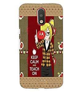 PrintDhaba Girl with Quote D-3021 Back Case Cover for MOTOROLA MOTO G4 PLUS (Multi-Coloured)