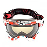 Oakley Twisted Snow Goggles twisted cubism red w/dark grey Size:one size