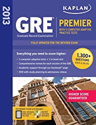 Kaplan 2013 GRE é « Premier: with 5 Online Practice Tests + DVD by Kaplan