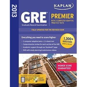 Kaplan 2013 GRE® Premier: with 5 Online Practice Tests + DVD (Kaplan Gre Exam Premier Live) 51AOMcvVKUL._SL500_AA300_