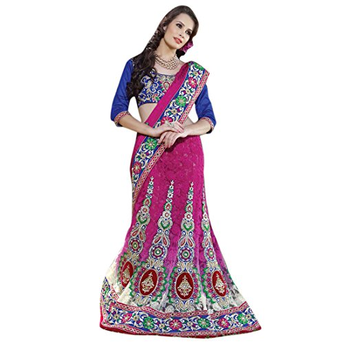 Triveni-Captivating-Floral-Embroidered-lehenga-saree-2819  available at amazon for Rs.7399