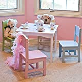 KidKraft 26101 Nantucket Table and 4 Pastel Chairs