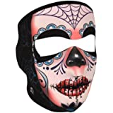 ZANheadgear Neoprene Fleece Lined Full Face Mask with Sugar Skull Print (Multicolor, One Size)