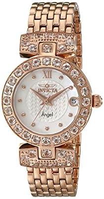 Invicta Women's 16061 Angel Analog Display Swiss Quartz Rose Gold Watch