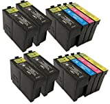 2 X T1306XL + 4 Extra Blacks - Compatible Ink Cartridges to replace Epson Stylus SX535WD Printers. XL Cartridges - High Capacity - Latest Chip - Pack replaces (T1301/Black, T1302/Cyan, T1303/Magenta, T1304/Yellow) T1306 - 33ML Black, 14ML Colours **By Tr