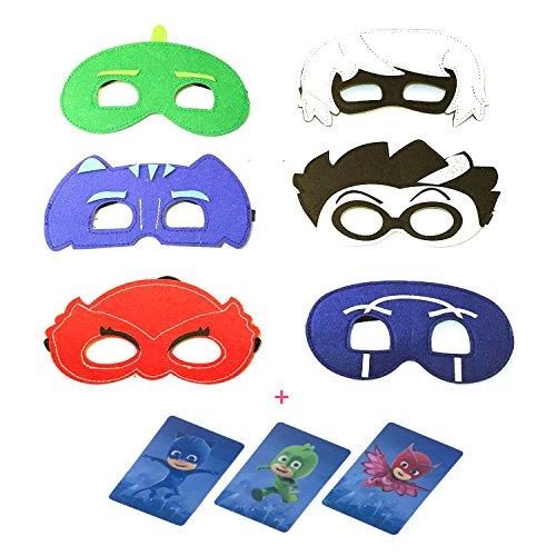 PJ Masks Mask For kids Set of 6 Catboy Owlette Gekko Remeo Luna Ninja masks
