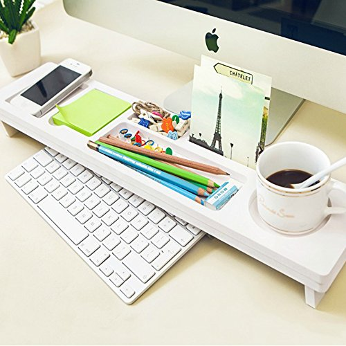 Etechmart Over The Keyboard Wood Plastic Desktop Organizer