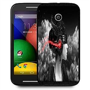 Snoogg Dark Women Designer Protective Phone Back Case Cover For Motorola E / Moto E