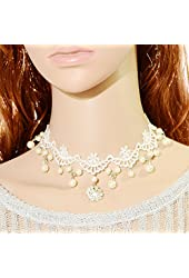Retro Boho Victoria Hollow Necklace Wedding Bridal