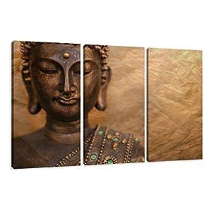 Image sur toile 160 x 90 cm Modèle N° XXL 1041 Bouddha Tableaux pour la mur, encadrés, prêts à poser, tout les images sur châssis géant bois véritable.